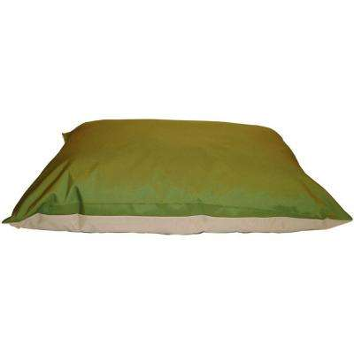 30 in. x 40 in. Green/Tan Chew Resistant Pet Bed
