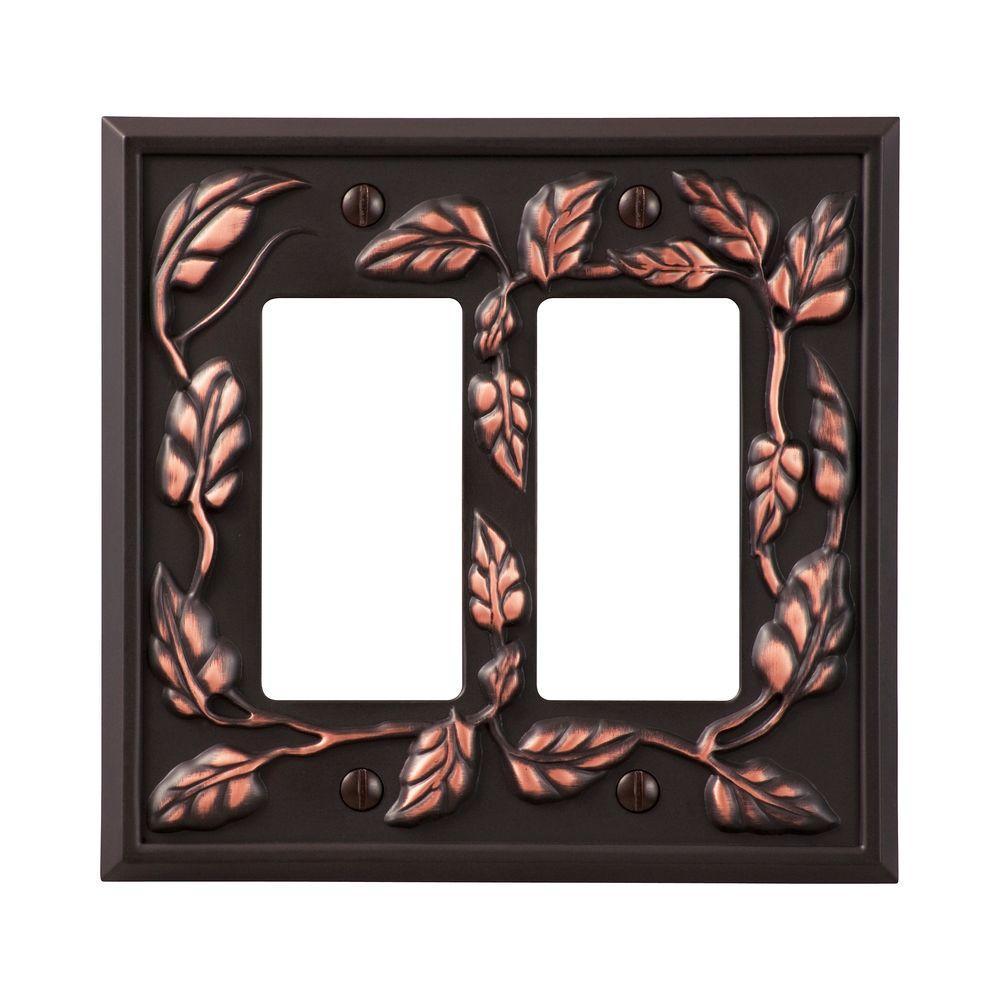 Leaf 2 Decora Wall Plate - Aged Bronze