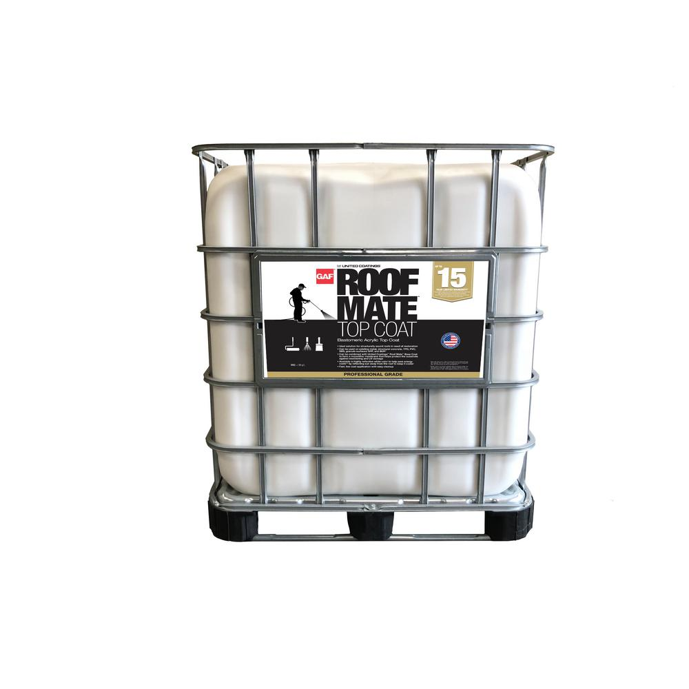 Gray Roof Paint: GAF Roof Mate 250 Gal. Gray Acrylic Reflective Roof