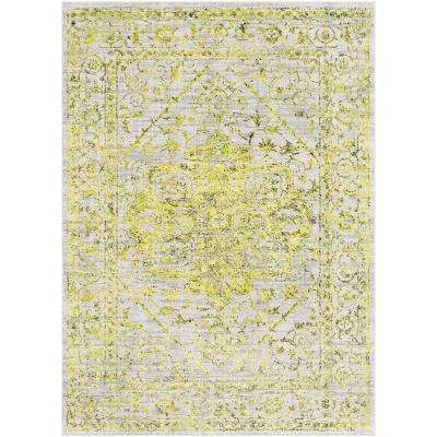 Everest Yellow 2 ft. x 3 ft. Oriental Area Rug