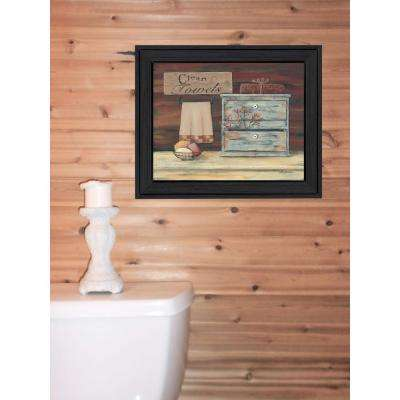 """16 in. x 13 in. """"Clean Towels"""" by Pam Britton Printed Framed Wall Art"""