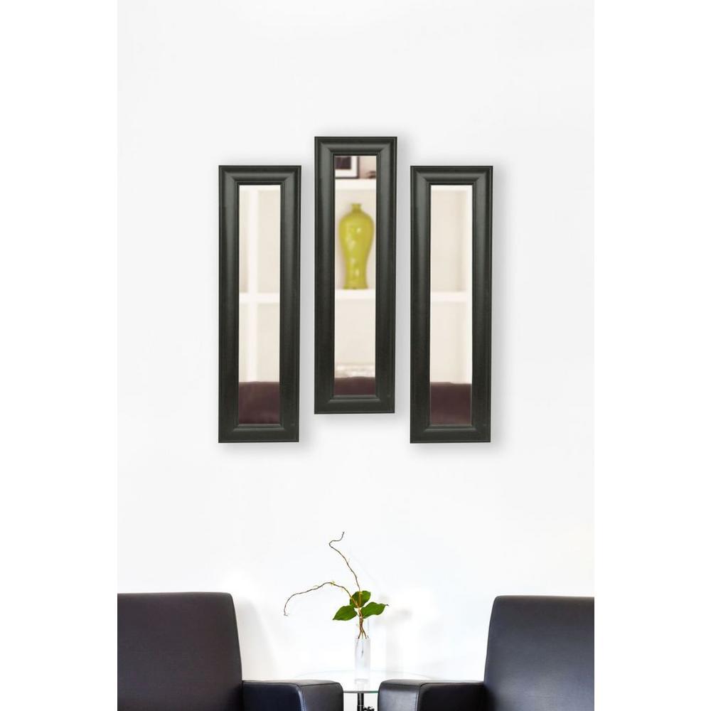 15 in. x 39 in. Brazilian Walnut Vanity Mirror (Set of