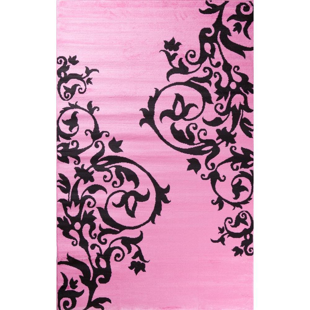 Alisa Tatoo Pink 3 ft. 4 in. x 5 ft. Area Rug