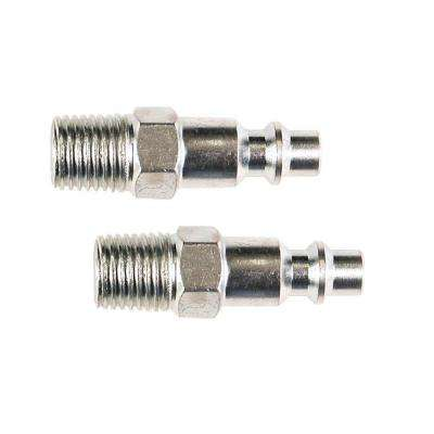 1/4 in. Industrial Steel Plug Set with 1/4 in. Male NPT (2-Piece)