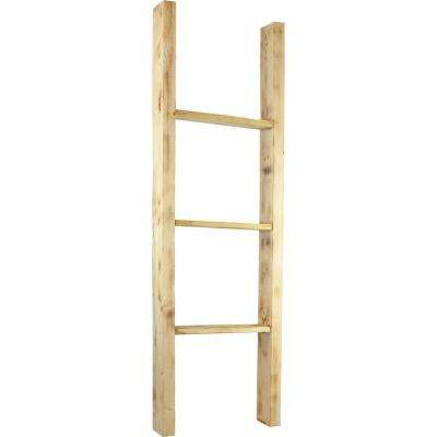19 in. x 36 in. x 3 1/2 in. Barnwood Decor Collection Restoration Green Vintage Farmhouse 2-Rung Ladder