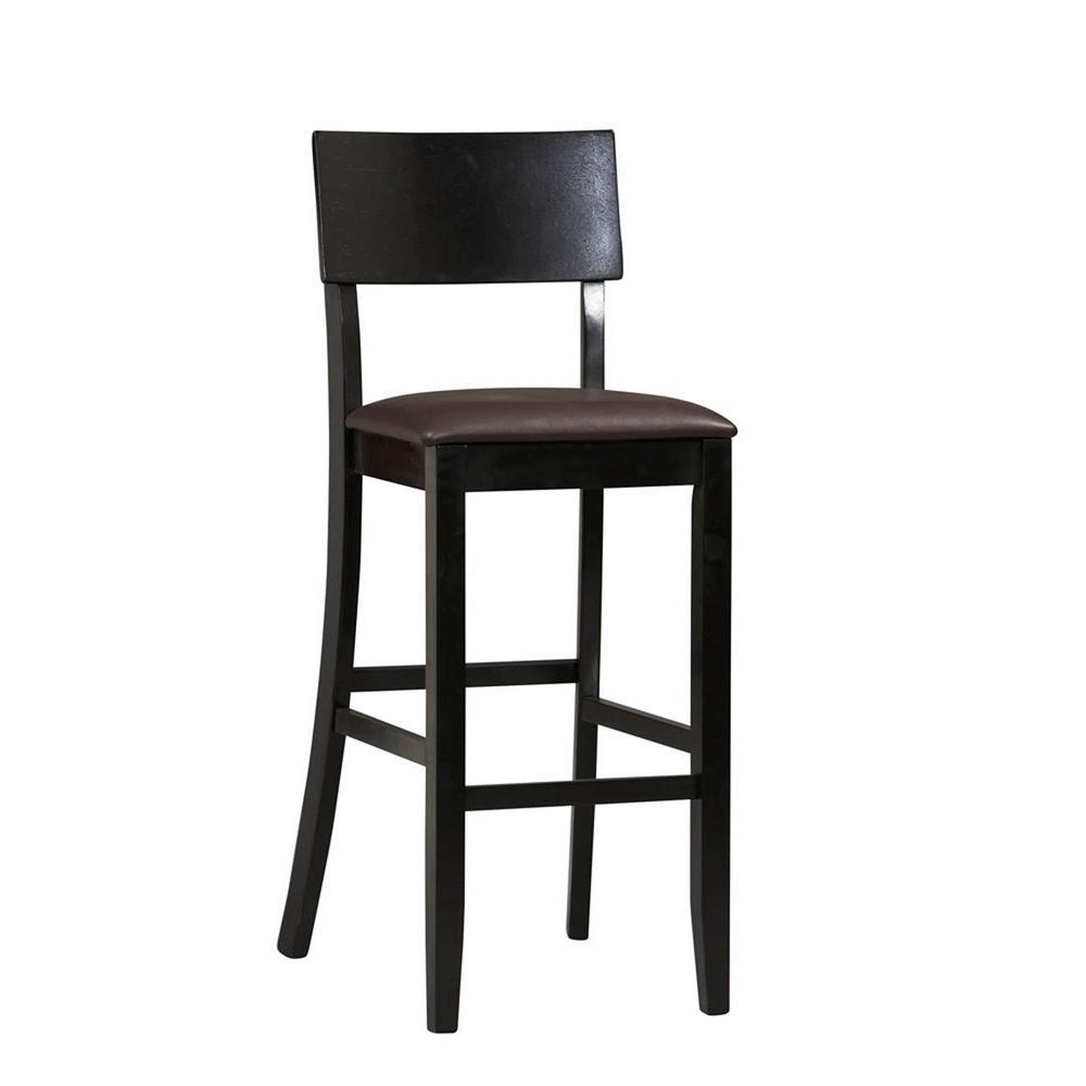 Admirable Linon Home Decor Torino Contemporary Bar Stool 01855Blk 01 Andrewgaddart Wooden Chair Designs For Living Room Andrewgaddartcom