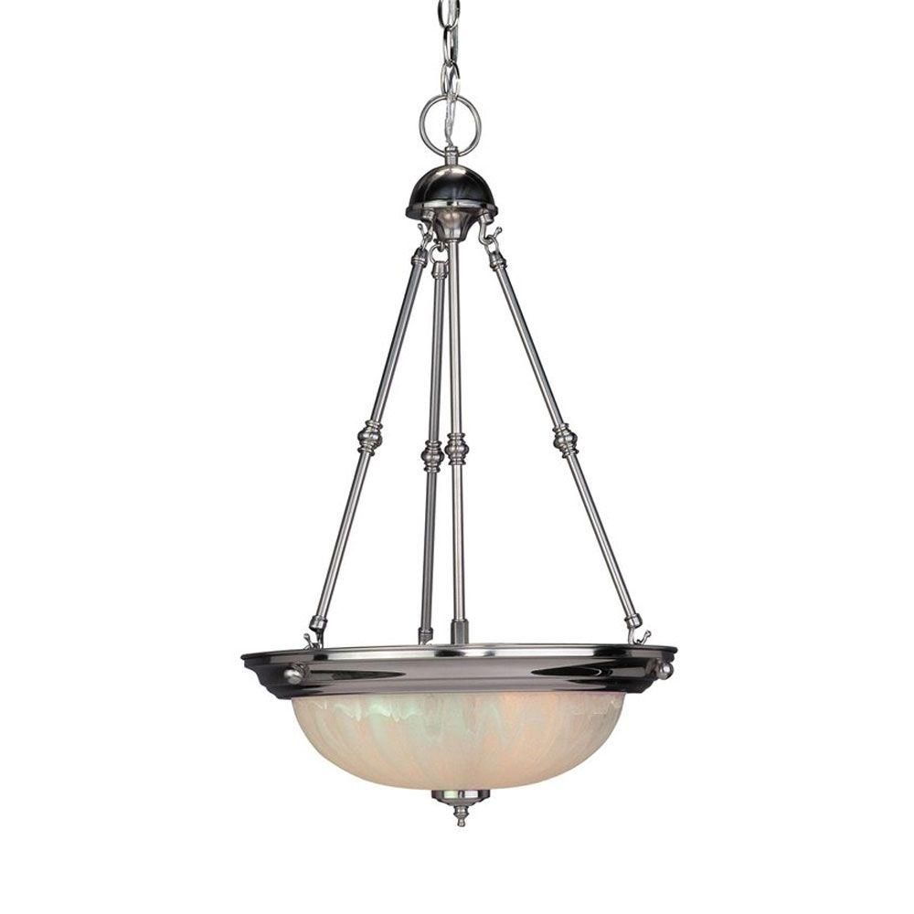 Savoy House Pendant 3-Light Classic Bowl Pendant - Nickel Satin Nickel Finish-DISCONTINUED