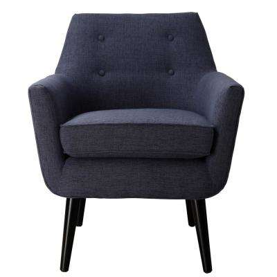 Clyde Navy Linen Chair
