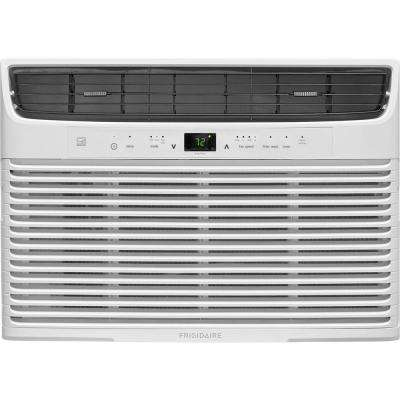 10,000 BTU 115-Volt Window-Mounted Compact Air Conditioner with Temperature Sensing Remote Control in White
