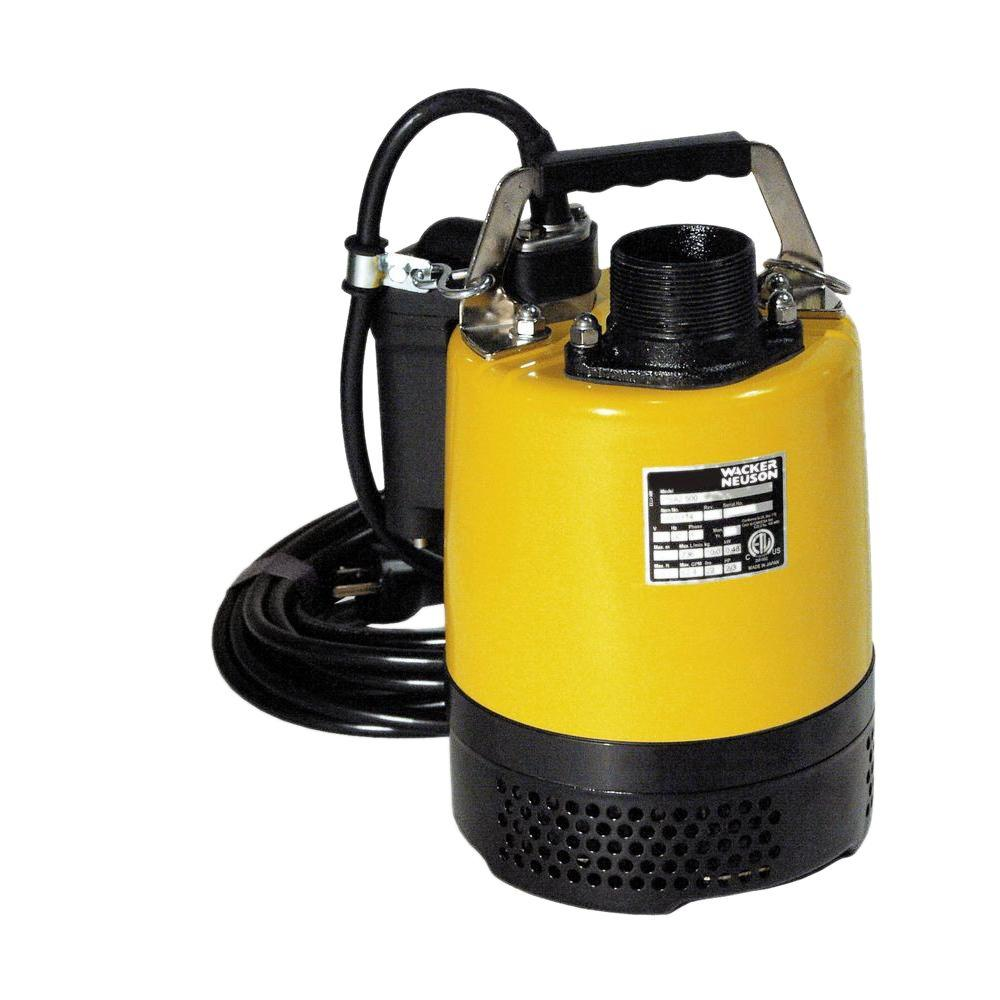 Wacker 2/3 HP 2 in. Electric Submersible Utility Pump with Automatic Switch