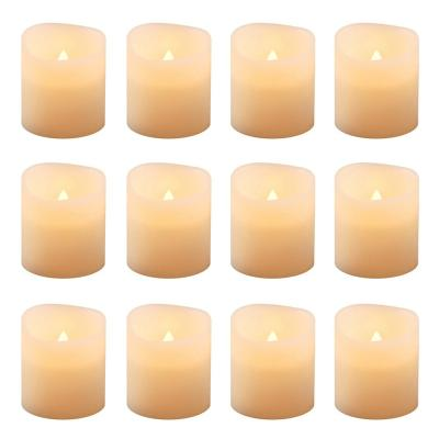 1.5 in. Amber Votive LED Candle (Set of 12)