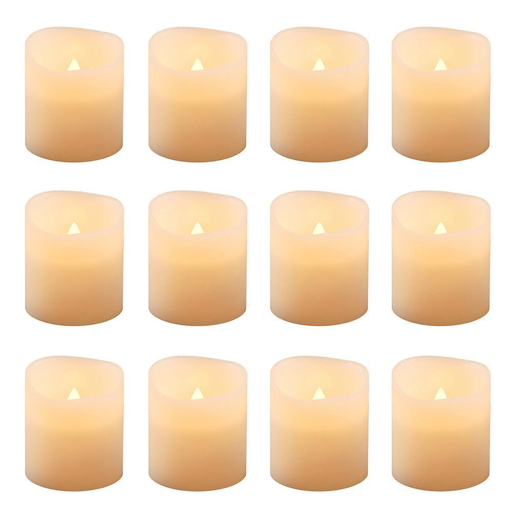 Lumabase 1.5 in. Amber Votive LED Candle (Set of 12) 81012