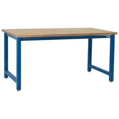 Kennedy  6,600 lbs. Capacity 30 in. H x 60 in. W x 24 in. D, 1.75 in. Solid Oiled Maple Butcher Block Top Workbench