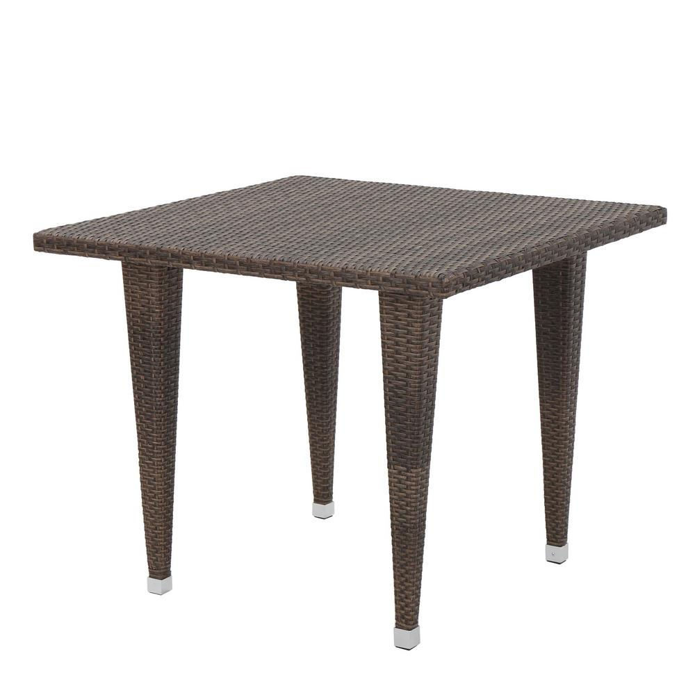 Mariam Mix Mocha Square Wicker Outdoor Dining Table