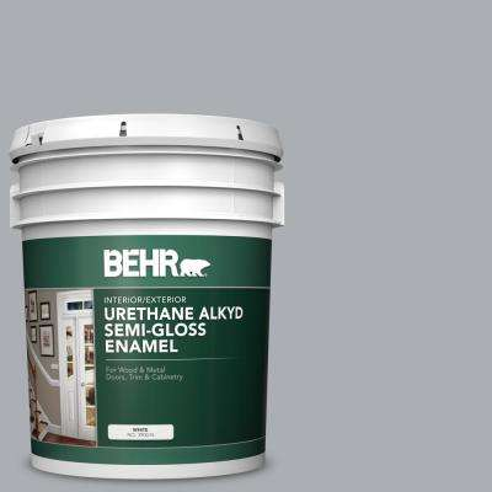 5 gal. #AE-50 Gray Cast Urethane Alkyd Semi-Gloss Enamel Interior/Exterior Paint