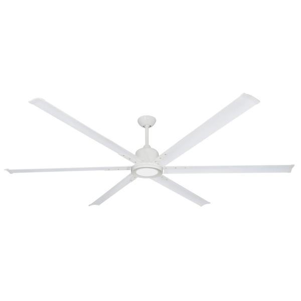 Titan II 84 in. LED Indoor/Outdoor Pure White Ceiling Fan with Remote Control