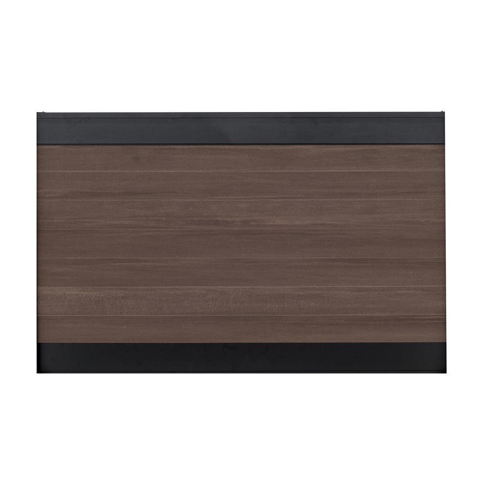 Veranda euro style 4 ft x 6 ft black top king cedar aluminum