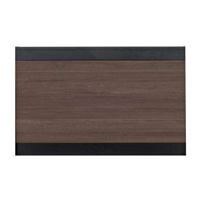 Euro Style 4 ft. x 6 ft. Black Top King Cedar Aluminum/Composite Horizontal Fence Panel