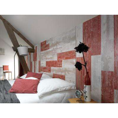 Element Wood 1/4 in. x 6 in. x 48 in. Red Shiplap Resin Wall Panels (9-Pack)