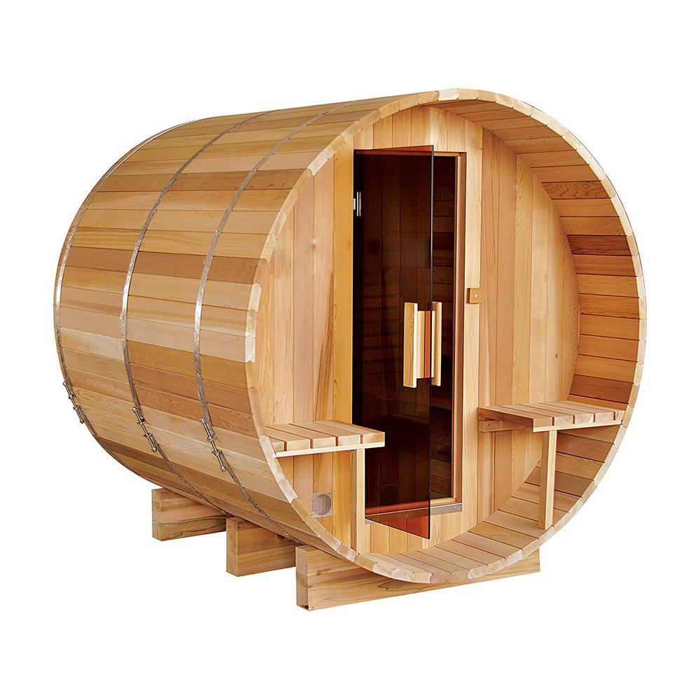 8-Person Red Cedar Electric Heater Sauna