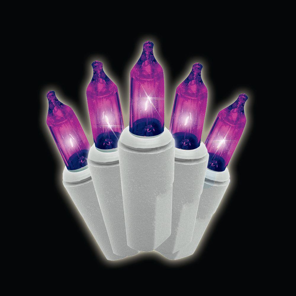 100 light mini purple lights set
