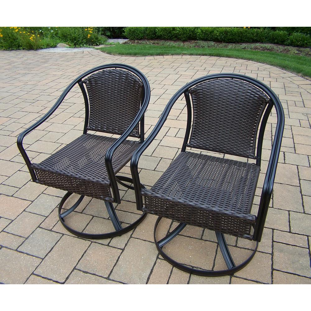 Peachy Tuscany Wicker Swivel Outdoor Dining Chair 2 Pack Cjindustries Chair Design For Home Cjindustriesco