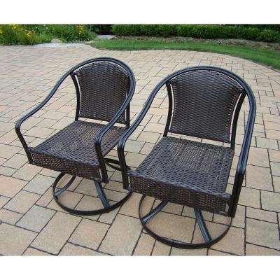 Tuscany Wicker Swivel Outdoor Dining Chair(2-Pack)