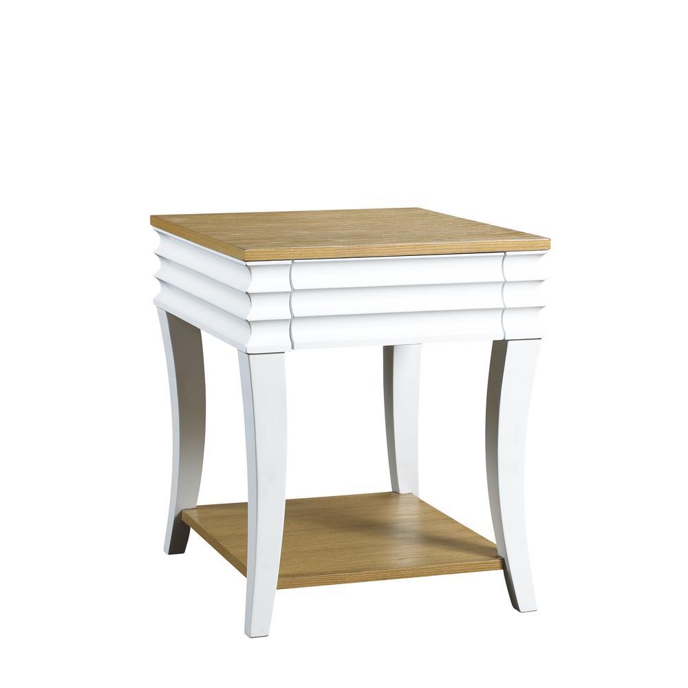 Haussman Bright White End Table