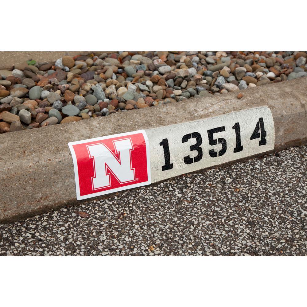 NCAA Nebraska Cornhuskers Address Logo Graphic