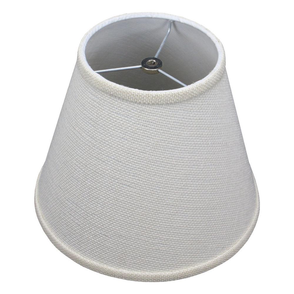 Fenchel Shades 6 in. Top Diameter x 11 in. Bottom Diameter x 9 in. Slant, Empire Lamp Shade - Burlap Off White