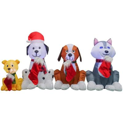 3.74 ft. H x 7.5 ft. W Inflatable Puppy Pals with Stockings