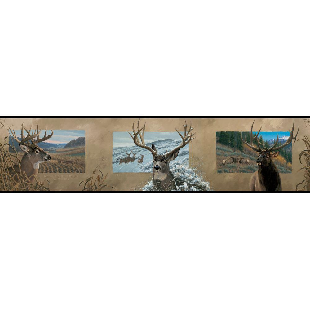 York Wallcoverings 6 in. Antlered Border