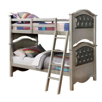 Dominique Twin Bunk Bed in Champagne