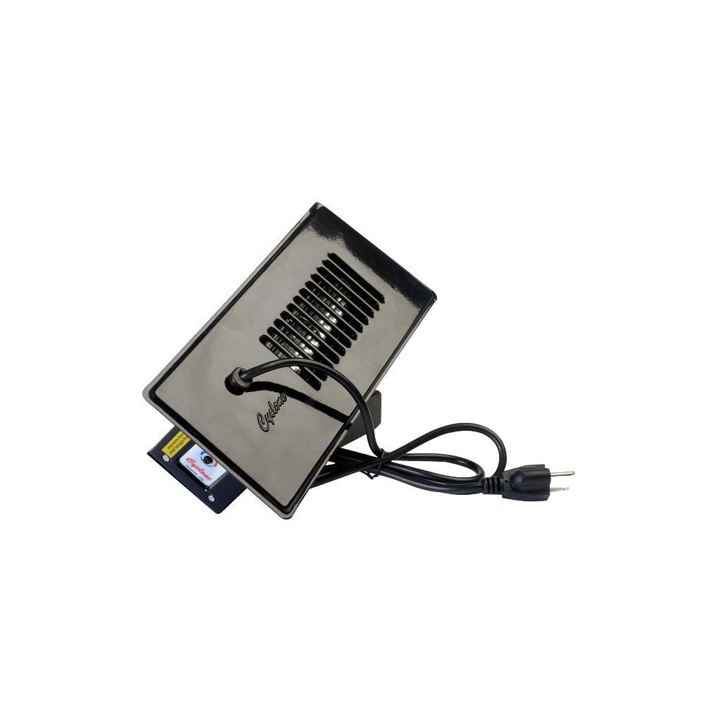 Cyclone Booster Fan Plus With Built In Thermostat Black Cm300bk Rectangular Duct Wiring Diagram