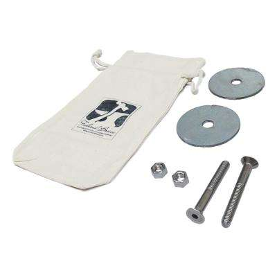 Counter Mounted Galvanized Steel Bearing Plate Kit (2-Pack)