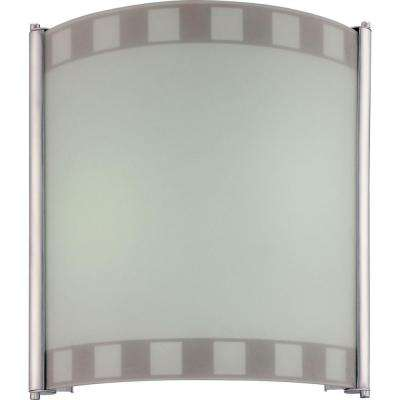 2-Light Silver Grey Interior Wall Sconce