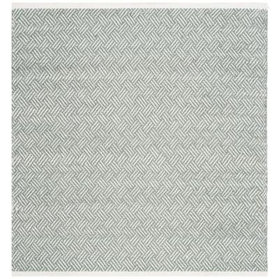 Boston Grey 8 ft. x 8 ft. Square Area Rug