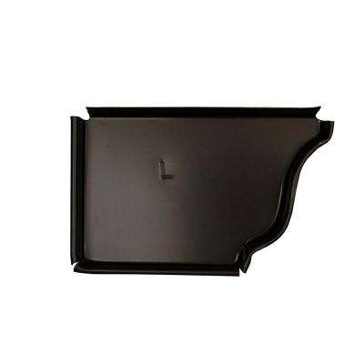 5 in. Dark Bronze Aluminum Left End Cap