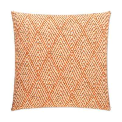 Tahiti Feather Down 24 in. x 24 in. Standard Decorative Throw Pillow