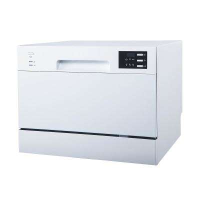 Portable Countertop Dishwasher in White with Delay Start LED 6 Place Settings