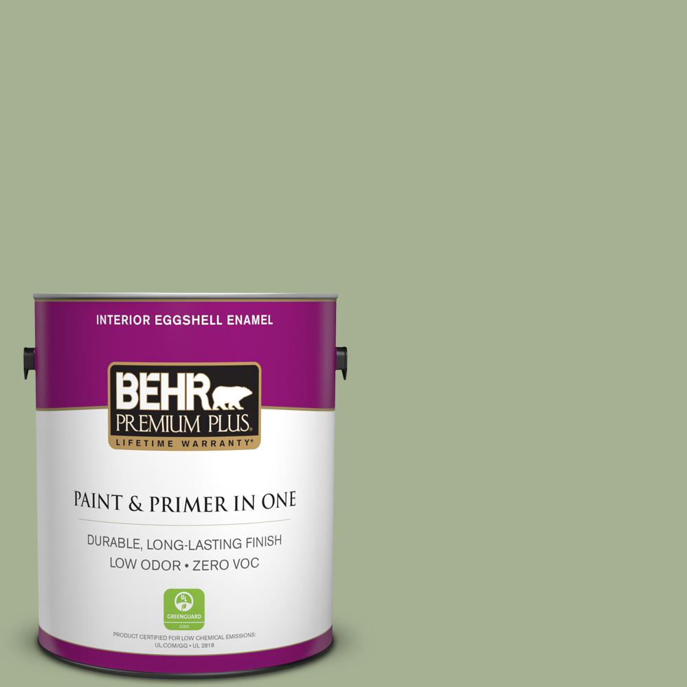 1 gal. #PPU11-06 Willow Grove Zero VOC Eggshell Enamel Interior Paint