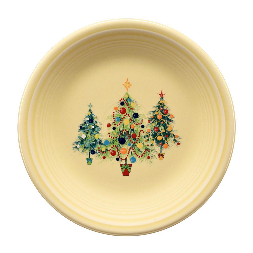 Ivory Trio of Christmas Trees Salad Plate