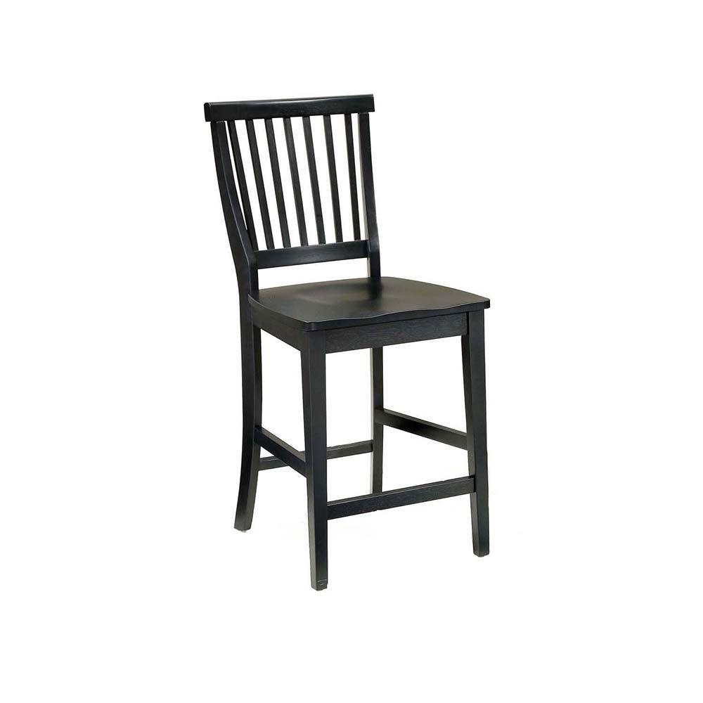 Home Styles Arts and Crafts 24 in. Black Bar Stool