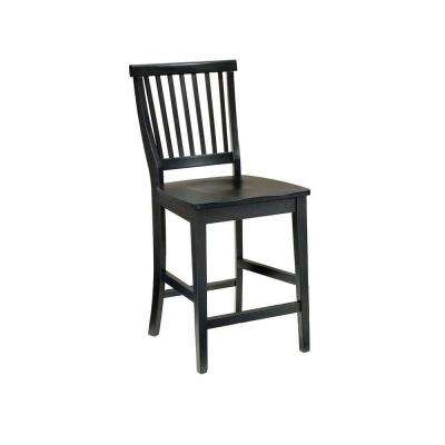 Arts and Crafts 24 in. Black Bar Stool