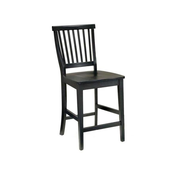 Home Styles Arts and Crafts 24 in. Black Bar Stool 5181-89