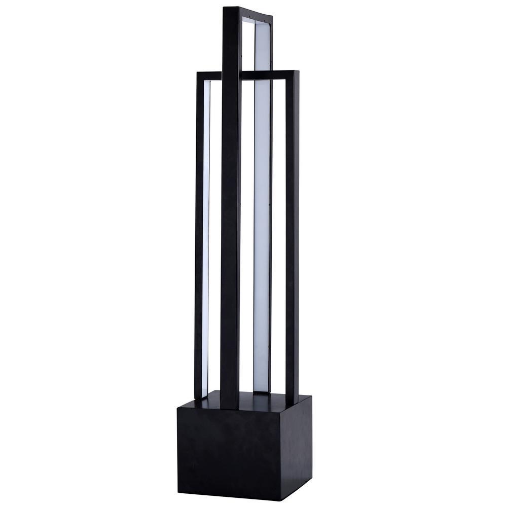 Singer 32 in. Black Floor Lamp