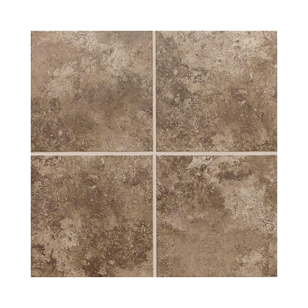 Daltile Stratford Place Truffle 18 in. x 18 in. Ceramic Floor and Wall Tile (18 sq. ft. / case)