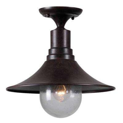 Brandon 1-Light Bronze Semi-Flush Mount Light