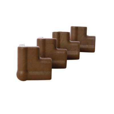 Foam Corner Cushions Brown, (4-Pack)