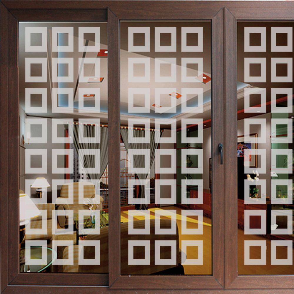 ETCHED Fx 49 in. x 13.75 in. Neuvo Blocks Premium Glass E...